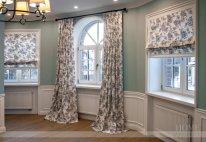 шторы из цветной ткани