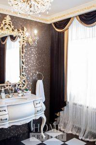 легкие шторы для ванной