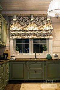 шторы из хлопка для кухни