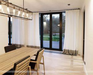 легкие шторы с кантом по низу