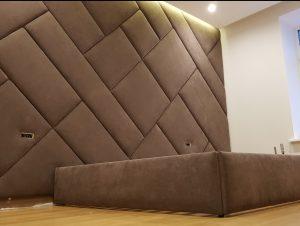 Стеновые панели и фасады из ткани и кожи