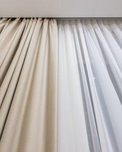 комплект штор в пастельных тонах